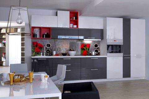 Кухня Манхэттен Акрил